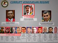 """По утверждению министра юстиции и генерального прокурора США Уильяма Барра, """"в течение более чем 20 лет Мадуро, ряд его занимающих высокие посты коллег, как предполагается, вступали в сговор с РВСК, в результате чего тонны кокаина"""" попали в Венесуэлу, а затем были переправлены в США"""