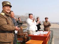 Ким Чен Ын на военных учениях, 12 апреля 2020 года