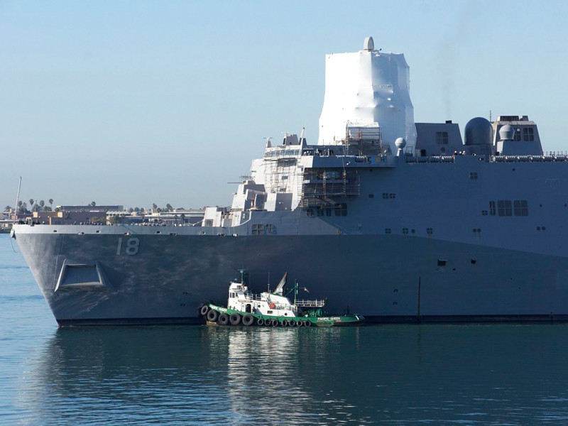 "Эсминец USS Kidd срочно зашел на базу в Сан-Диего из-за вспышки COVID-19"" />"