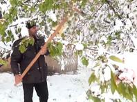 Таджикистан засыпало снегом: такого не было даже зимой (ВИДЕО)