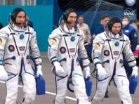 """На борту корабля """"Союз МС-16"""" находится новый экипаж МКС - космонавты """"Роскосмоса"""" Анатолий Иванишин (командир корабля) и Иван Вагнер, а также астронавт NASA Кристофер Кэссиди"""