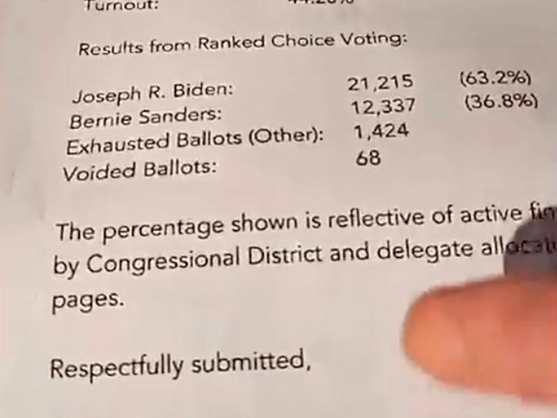 Байден победил на первичных выборах на Гавайях