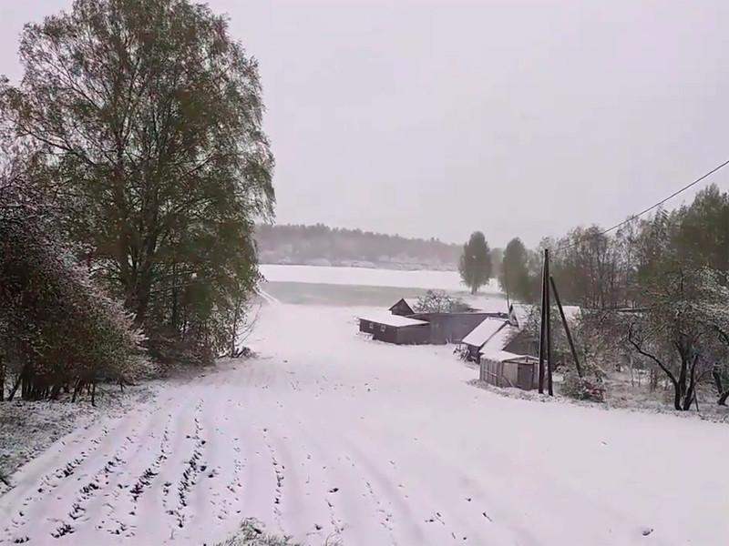 Снегопад в Латвии, 12 мая 2020 года