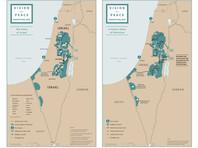 """В январе 2020 года Дональд Трамп опубликовал карту новых границ Израиля и Палестинской автономии, предложенных в рамках """"сделки века"""""""