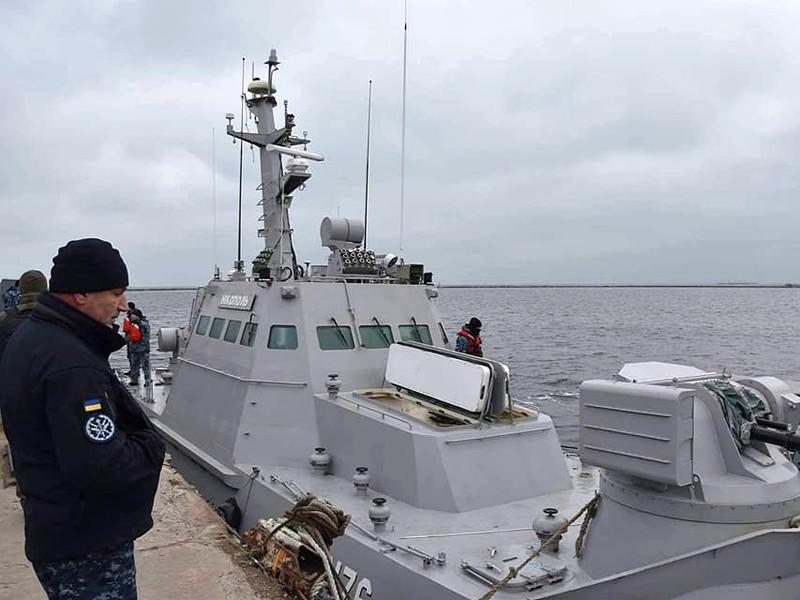 """18 ноября МИД России сообщил, что Украина получила два малых бронированных катера """"Бердянск"""" и """"Никополь"""", а также буксир """"Яны Капу"""", которые были задержаны после конфликта"""
