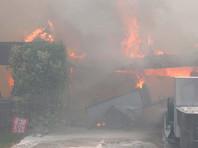Природный пожар уничтожил несколько домов в калифорнийском городе Саисан