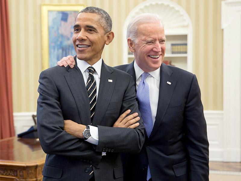 Барак Обама и Джо Байден, 9 февраля 2015 года