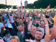 В Минске на митинг в поддержку Светланы Тихановской собрались около 60 тысяч человек