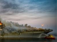 На военно-морской базе в Сан-Диего (Калифорния) произошел пожар на американском десантном корабле USS Bonhomme Richard, сообщает пожарная служба города на своей странице в Twitter