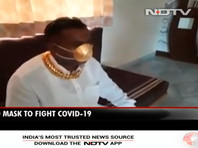 В Индии продают защитные маски, сделанные из золота и украшенные бриллиантами (ФОТО)