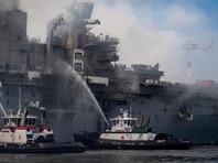 Пожар на десантном корабле в США потушен после четырех дней борьбы с огнем