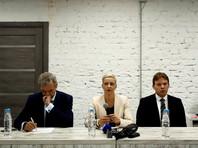 Павел Латушко, Мария Колесникова и Максим Знак, пресс-конференция после второго заседания Координационного совета
