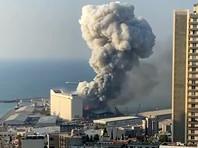 Сильный взрыв прогремел вечером во вторник в районе порта Бейрута