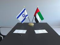 Флаги Израиля и ОАЭ