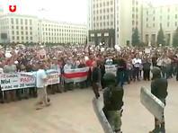 В Минске прошел многотысячный митинг у здания правительства
