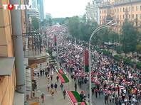 Число участников несанкционированного марша оппозиции в Минске превысило 100 тыс. человек