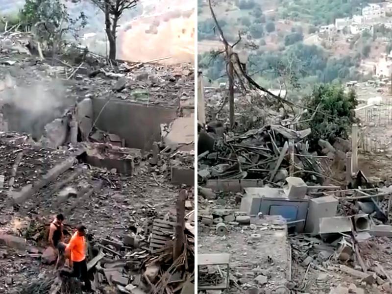 Пострадавшая от взрыва деревня Айн-Кана