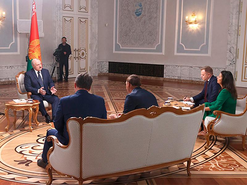 Александр Лукашенко 8 сентября 2020 года дал интервью представителям ведущих российских СМИ