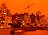 Апокалиптические и марсианские пейзажи в Сан-Франциско: город накрыла оранжевая пелена (ФОТО, ВИДЕО)