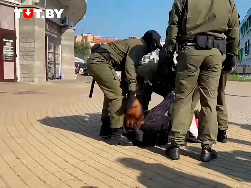 В Минске на первой после инаугурации Лукашенко субботней акции протеста задержали десятки человек (ВИДЕО)
