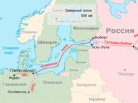 """Схема газопроводов """"Северный поток"""" и """"Северный поток — 2"""""""