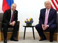 Владимир Путин и Дональд Трамп, июнь 2019 года