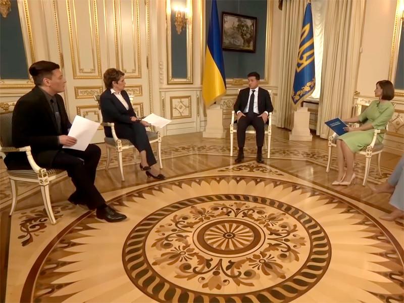 Владимир Зеленский интервью четырем украинским телеканалам