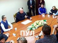 Президент Белоруссии Александр Лукашенко встретился с арестованными до и после выборов представителями белорусской оппозиции в СИЗО КГБ