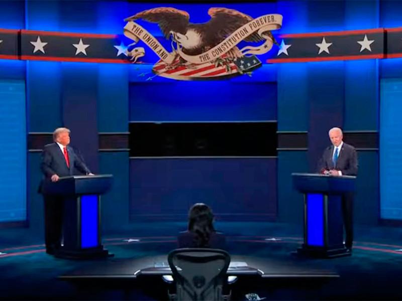 В ходе финальных предвыборных дебатов Трамп обвинил Байдена в получении денег от России