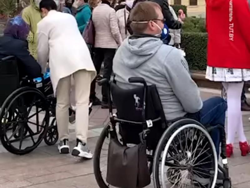 В Минске на протестный марш вышли люди с инвалидностью