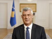 Президент Косово подал вотставку из-за обвинений ввоенных преступлениях