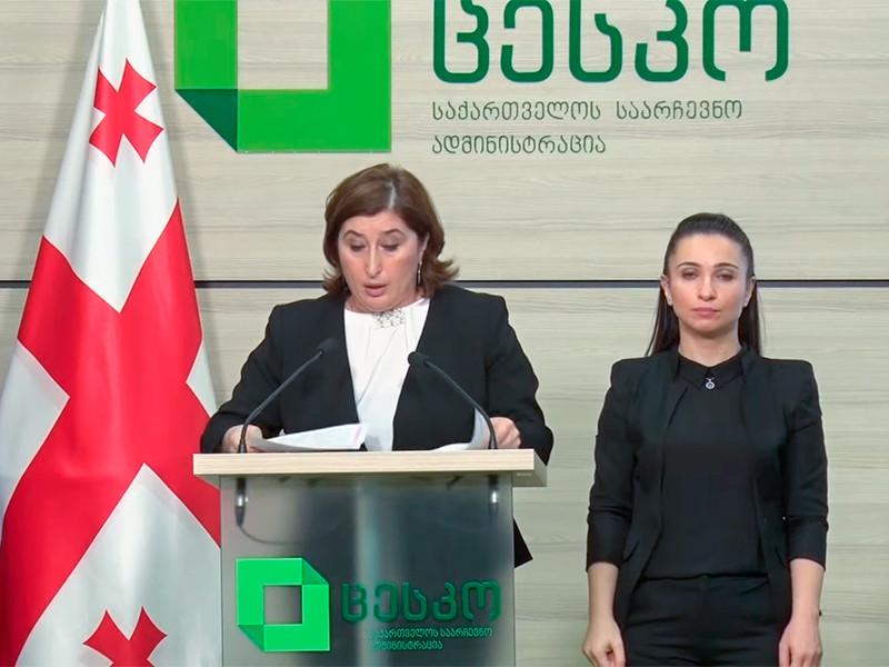 """Правящая партия """"Грузинская мечта"""", исходя из уже подсчитанных в ЦИК голосов избирателей на прошедших накануне парламентских выборах, может самостоятельно без создания коалиции сформировать правительство"""
