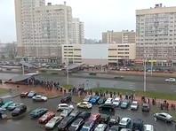 """С утра участники протестного """"Марша соседей"""" начали выходить на улицы в разных районах Минска"""