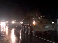 Выдвижение колонны миротворческого контингента ВС РФ в район сосредоточения в город Горис