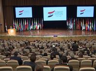 Руководитель российско-сирийского межведомственного координационного штаба по возвращению беженцев Михаил Мизинцев на Международной конференции по возвращению беженцев на территорию Сирии