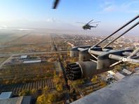 Экипажи вертолетов армейской авиации ВКС России Ми-8 и Ми-24 выполняют задачи по прикрытию и сопровождению колонн миротворческих сил, совершающих марши по маршрутам с аэродрома Эребуни в н.п. Горис и Степанакерт, 14 ноября 2020 года