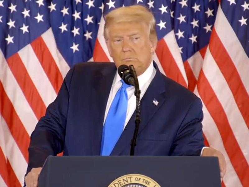 """Трамп призвал остановить подсчет голосов на выборах президента в США"""" />"""