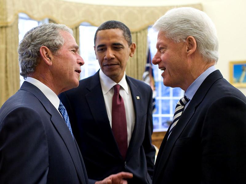 Джордж Буш-младший, Барак Обама, Билл Клинтон