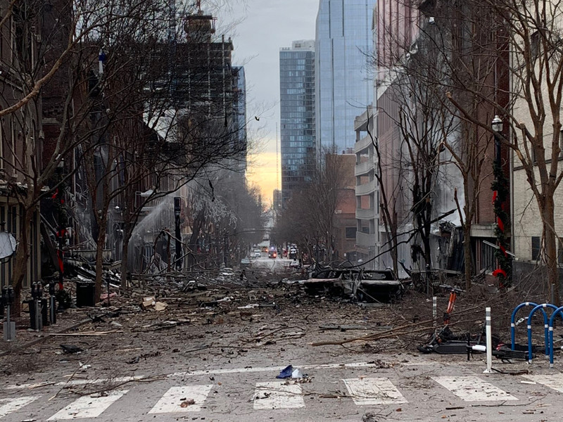 В центре американского Нэшвилла взорвался автомобиль