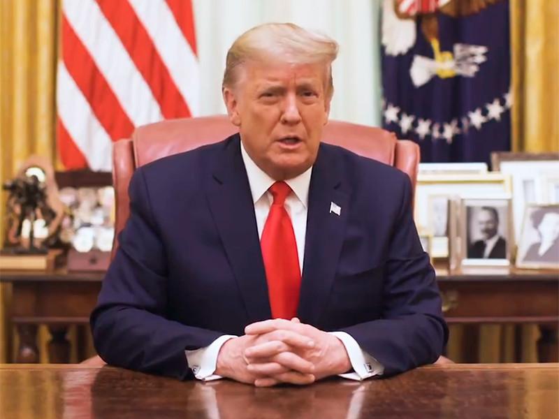 """Трамп осудил беспорядки в Вашингтоне и призвал общество """"найти точки соприкосновения"""""""
