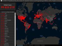 Количество случаев заражений коронавирусом в мире превысило 100 млн, четверть из них - в США