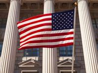 Флаг на здании Министерства торговли США