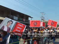 В Мьянме десятки тысяч жителей вышли на улицы  протестовать против  военного переворота