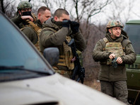 Владимир Зеленский посетил линию соприкосновения в Донбассе