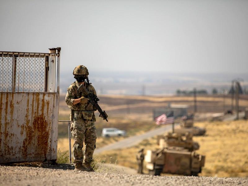 Американские военные в Сирии, октябрь 2020 года