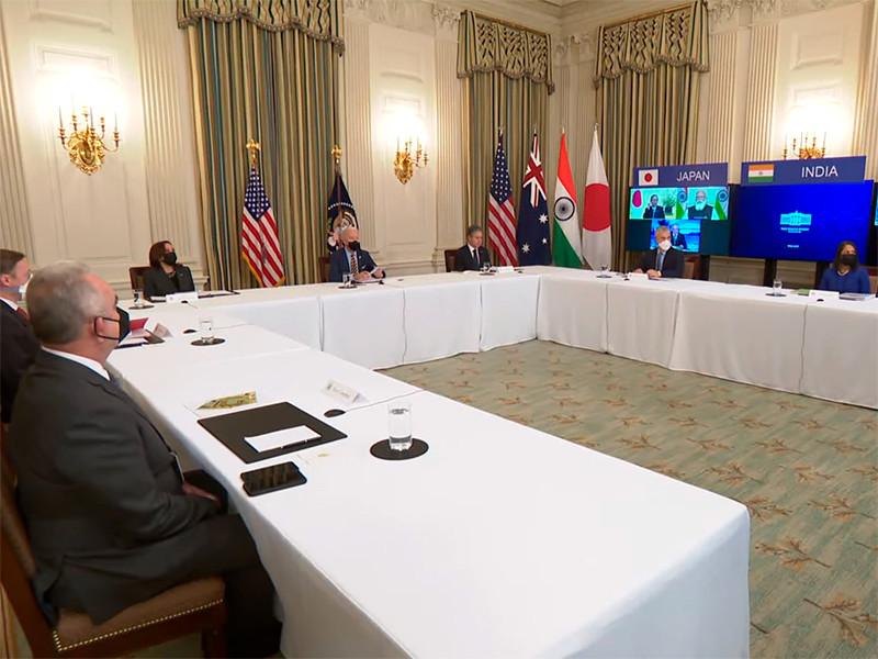В пятницу состоялись переговоры по видеосвязи лидеров Австралии, Индии, США и Японии, на которых обсуждали вызовы, исходящие от Китая