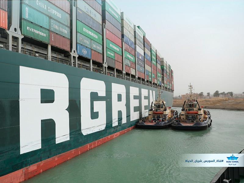 Инцидент с контейнеровозом, севшим на мель в Суэцком канале, получил курьезное продолжение