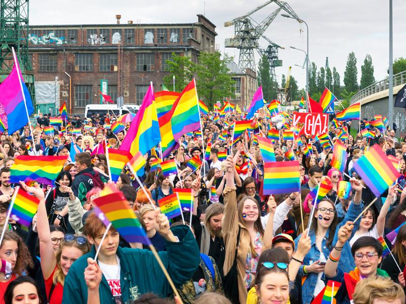 Польша, Гданьск, 25 мая 2019 года: марш равенства и толерантности