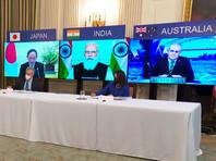 """В совместном письменном заявлении """"четверки"""" сказано, что главы внешнеполитических ведомств США, Индии, Японии и Австралии будут часто консультироваться между собой """"и встречаться по меньшей мере раз в год"""""""