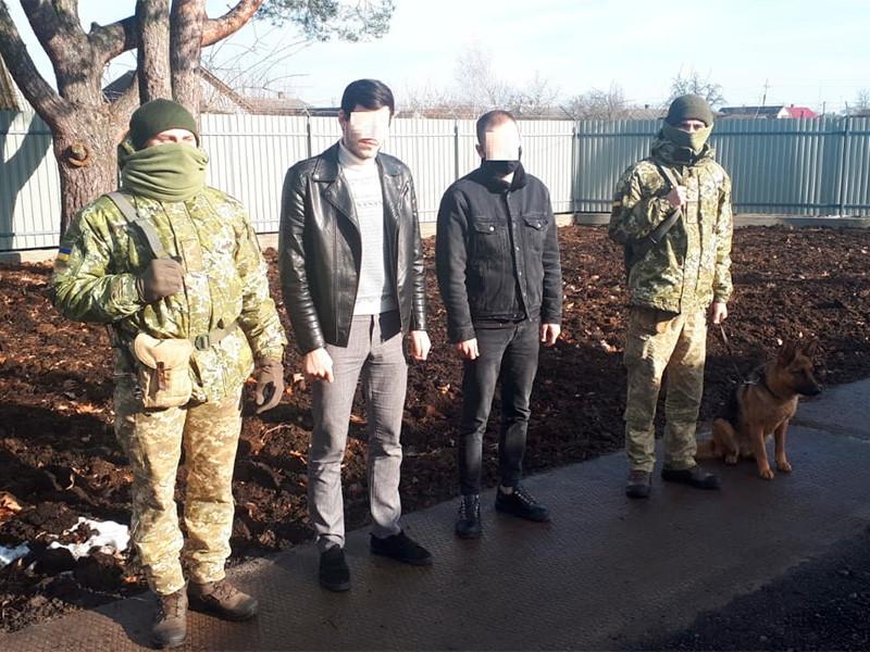 Госпогранслужба Украины задержала двух граждан России и Белоруссии, которые незаконно пересекли границу страны